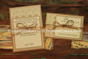 Rustic Wedding Invitations Set Of 100