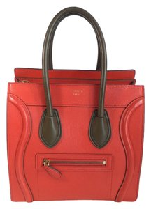 Céline Tote in Red/Brown
