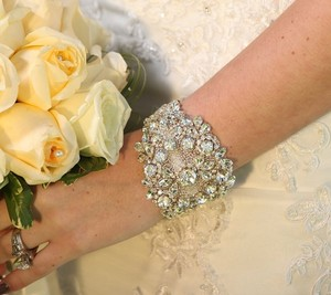 Maria Weddng Bridal Crystal Bracelet Cuff Bangle