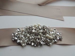 Other Alina Bridal Dress Gown Beaded Jeweled Crystal Belt Embellishment
