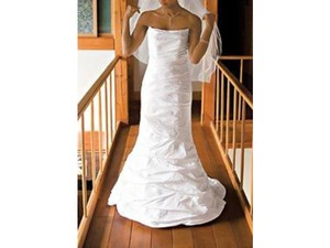 David's Bridal P9345white Wedding Dress