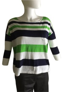 Lilly Pulitzer Top Green navy and white