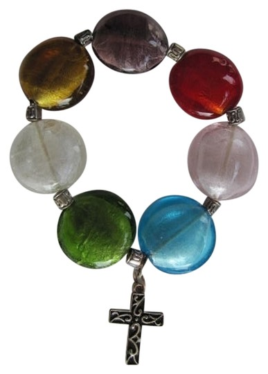 Other FLAT BEADS CROSS BRACELET
