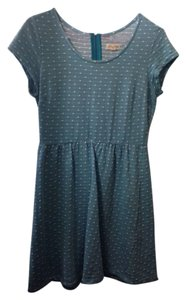 Maison Jules short dress Blue and White Polka Dot on Tradesy