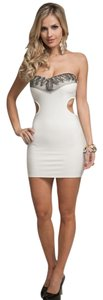 My Story Peep Side Embellished Cutout Dress