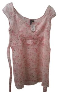 Dollz Sheer Ivory Pink Top Ivory/Pink
