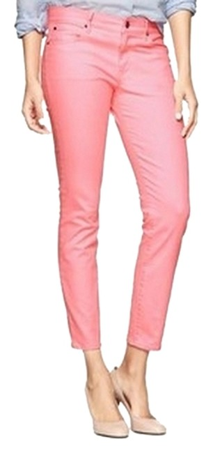 Item - Neon Coral Light Wash Skinny Jeans Size 24 (0, XS)