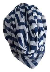 Other Navy Blue Chevron Infinity Scarf