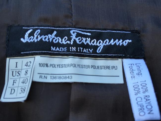 Salvatore Ferragamo Tailored Italian Elegance Multi Purpose. Signature Buttons Chocolate Brown Jacket Image 1