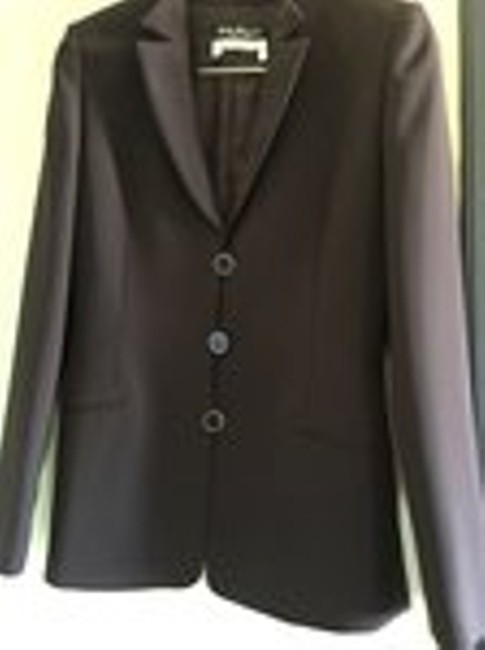 Salvatore Ferragamo Tailored Italian Elegance Multi Purpose. Signature Buttons Chocolate Brown Jacket Image 9