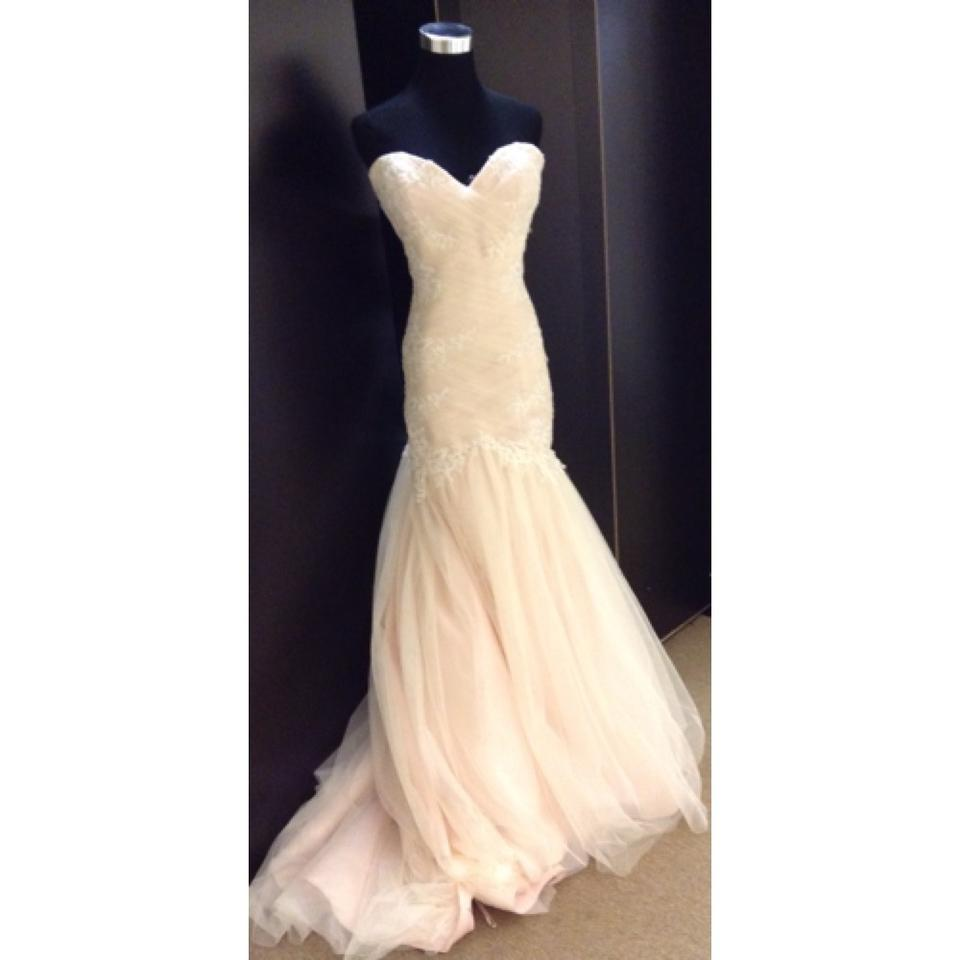 Maggie Sottero Lace Wedding Gown: Maggie Sottero Blush Lace & Tulle Formal Wedding Dress