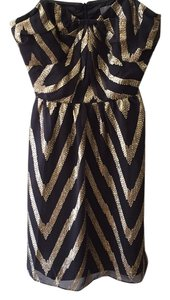 Aryn K short dress Black, gold on Tradesy