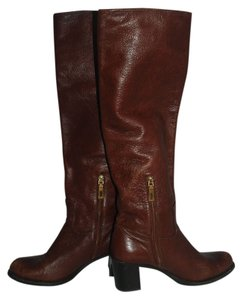 Prada Leather Textured Tall brown Boots