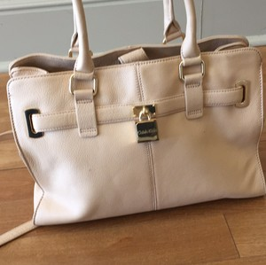 Calvin Klein Pink Neututal Fendi Gucci Tote in Tan