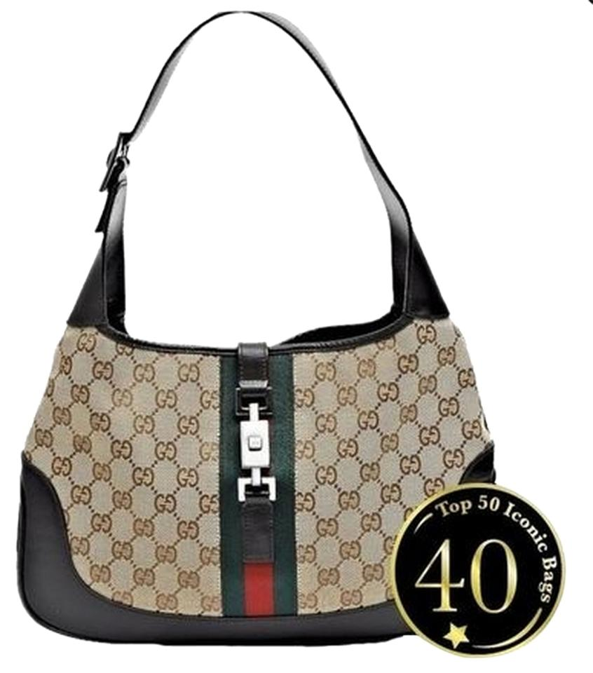 43e129e62f9d Gucci Vintage Monogram Leather Canvas Classic Jackie O Iconic Hobo Bag  Image 0 ...