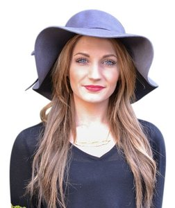 Other Charcoal Grey Wool Floppy Hat