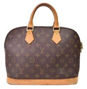 Louis Vuitton Vintage Leather Monogram Alma Satchel in BROWN