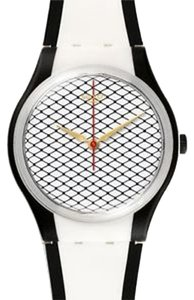 Swatch Swatch GW167 Unisex Silver Tone Analog Watch With White Dial