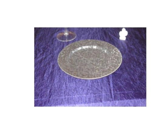 Silver Chargers Tableware