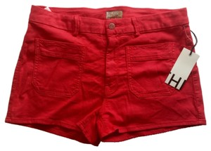 Mother Mini/Short Shorts Berry Red