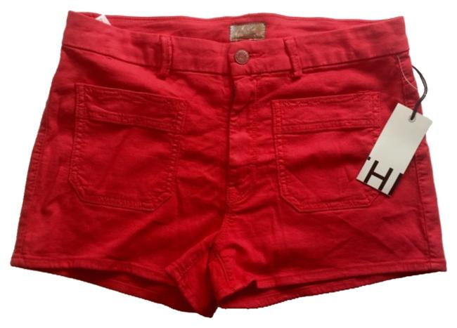 Item - Berry Red Patch Pocket Shorts Size 6 (S, 28)