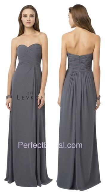 Item - Navy Bridesmaid Style 776 Long Formal Dress Size 4 (S)