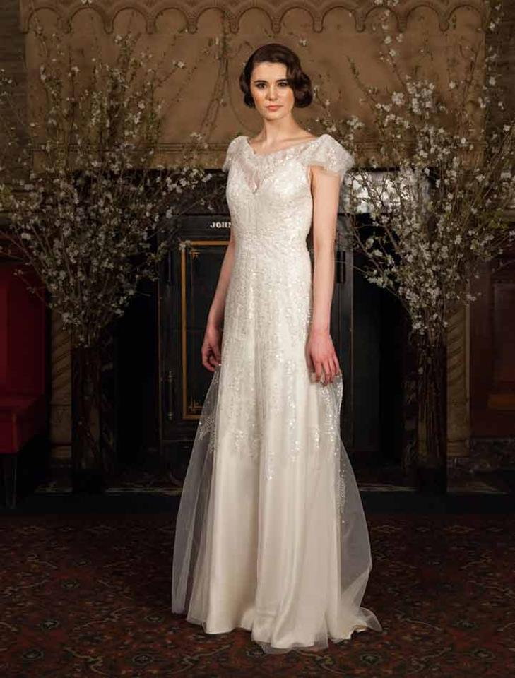 Austin Scarlett Ivory Beaded Tulle with Silk Charmeuse Lining ...