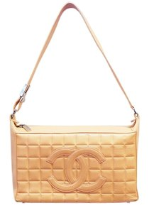 Chanel Cc Quilted Leather Chocolate Bar Shoulder Bag