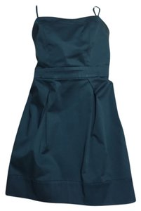 French Connection short dress Teal Strapless Daytime on Tradesy