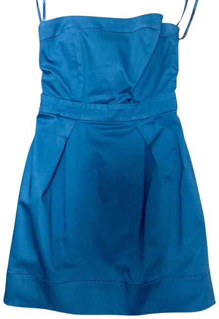 Preload https://img-static.tradesy.com/item/8197144/french-connection-teal-blue-cotton-wizard-strapless-above-knee-short-casual-dress-size-2-xs-0-4-650-650.jpg