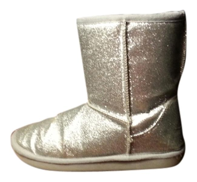 Item - Silver Boots/Booties Size US 5