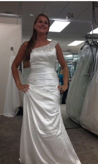 David's Bridal Soft Gown With Ruched Bodice And Embellished Strap Style Swg494 26020048 Wedding Dress