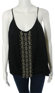 Sheri Bodell Sexy Little Spaghetti Straps Metal Studs Top Black