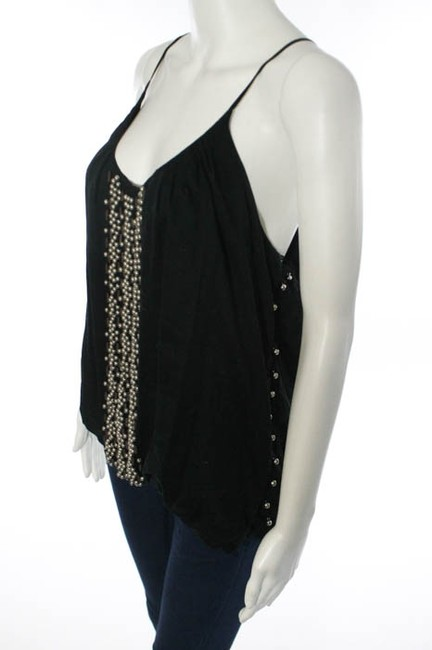 Sheri Bodell Sexy Little Spaghetti Straps Metal Studs Top Black Image 1