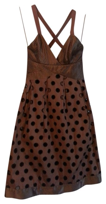 Preload https://img-static.tradesy.com/item/819781/catherine-malandrino-brown-with-black-knee-length-short-casual-dress-size-4-s-0-0-650-650.jpg