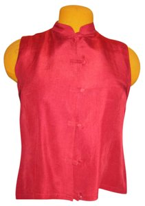 Merona Silk Sleeveless Fitted Top red
