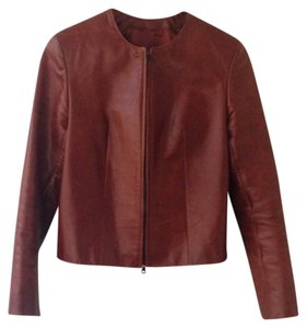Three Star Leather Brown Leather Jacket