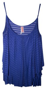 Free People Striped Top Royal Blue