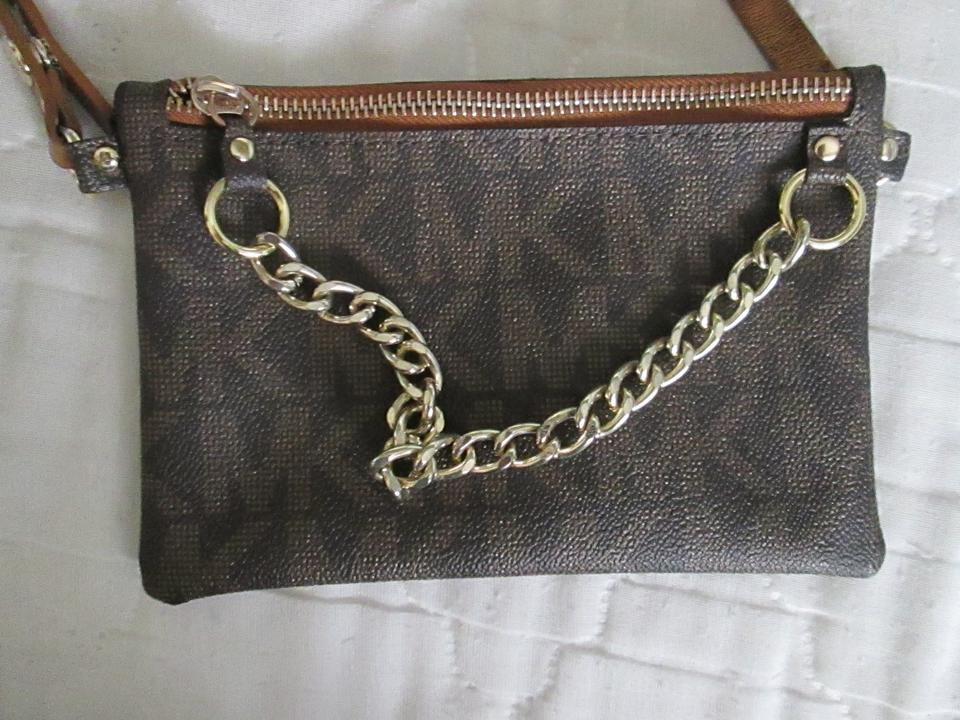 Michael By Michael Kors Logo Embossed Belt Bag With Chain