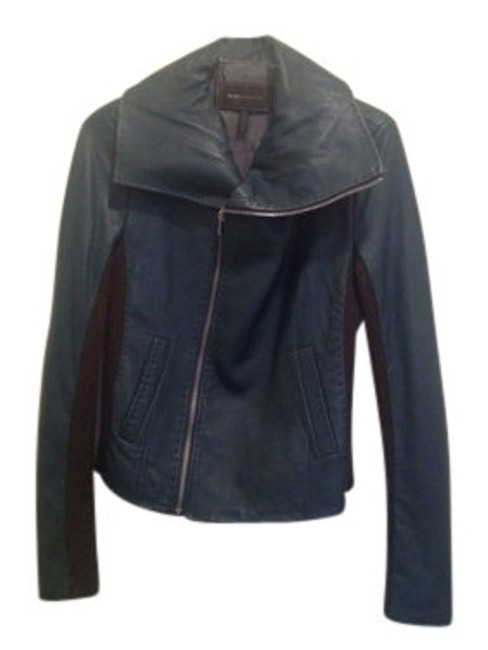 Preload https://item5.tradesy.com/images/bcbgmaxazria-tealbrown-leather-moto-w-wool-inset-motorcycle-jacket-size-4-s-8199-0-0.jpg?width=400&height=650