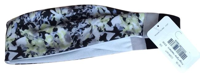 Item - Black White Yellow New with Tags Fringe Figther Headband Floral Hair Accessory