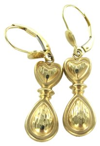 14KT SOLID YELLOW GOLD EARRINGS DANGLE NO STONES FINE JEWELRY 2.0 GRAMS TRENDY