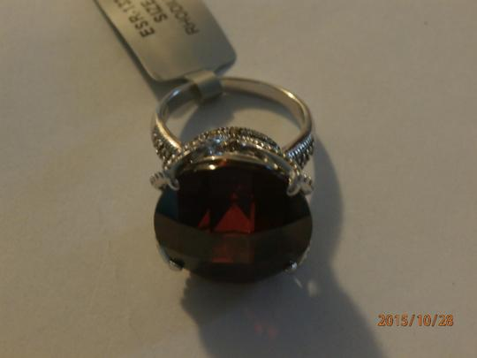 Other NEW amazing Sterling Silver Marcasite Ring ruby CZ SIZE 6 Image 1