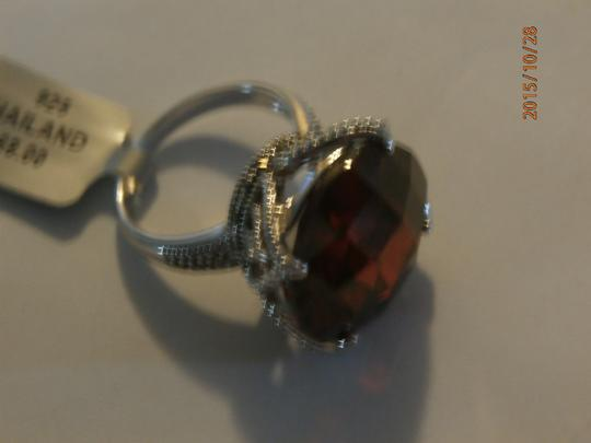 Other NEW amazing Sterling Silver Marcasite Ring ruby CZ SIZE 6 Image 6