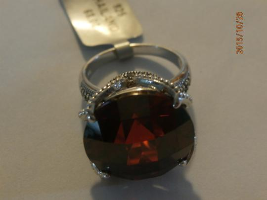 Other NEW amazing Sterling Silver Marcasite Ring ruby CZ SIZE 6 Image 7