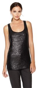 Elie Tahari Sequin Dressy Or Casual W/jeans Top Black