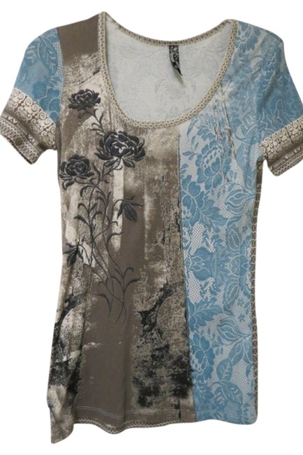Brown/Blue Tee Shirt Size 6 (S) Brown/Blue Tee Shirt Size 6 (S) Image 1
