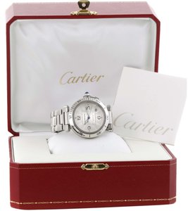 Cartier Cartier Pasha Seatimer Stainless Steel Silver Dial Watch w3103155