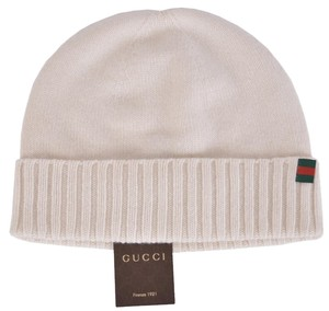 Gucci New Gucci Men's 284587 Maglia 100% Cashmere Web Stripe Knit Beanie Hat XL