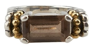 Lagos Lagos Caviar Sterling Silver & 18K Topaz Ring, Size 6 (58725)